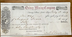 126 Group Of 2 Quincy Mining Company Stock Certificates From Keweenaw Mi