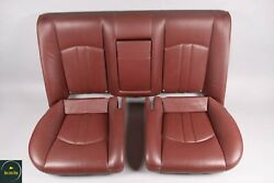 06-11 Mercedes W219 Cls500 Cls550 Rear Lower And Upper Seat Cushion Red Oem