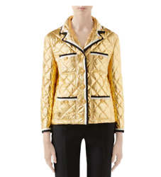 Metallic Quilted Leather Jacket-with Tags- Rrp3,250 Aud