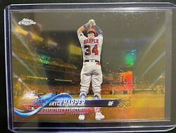 2018 Topps Chrome Update Gold Refractors BRYCE HARPER #19 50