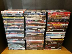 Lot Of 87 Dvds Assorted Genre Movies Mixed Used Dvd Action Comedy Free Shipping