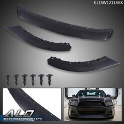 Abs Front Bumper Lip Chin Spoiler Body Kit Black For 2013-2014 Ford Mustang