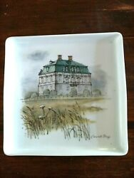 Eremitage Palace Denmark B And G Porcelain Square Plate 7 5/8