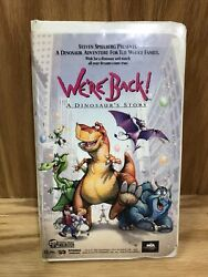 We're Back A Dinosaur's Story Vhs, 1993, Clamshell - Tested