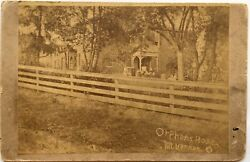 Antique 19th Century Cabinet Photograph Orphans Home Orphanage Mt Vernon Ohio Oh