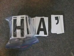 6 Big Changeable Letters Message Sign Menu Marquee Reader Board - Complete Set