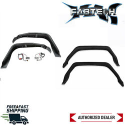 Fabtech Heavy Duty Steel Front And Rear Tube Fenders Fits 2020 Jeep Gladiator 4wd