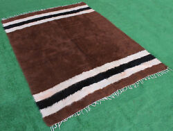 Turkish Rug 62''x78 Hand Woven Siirt Mohair Tribal Tent Rug 158x200cm No Dyes