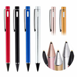 Screen Touch Pen Metal Tip Usb Recharge Wire Stylus For Iphon Ipad 3 4 Pro And Air