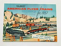 1957 Gilbert American Flyer Model Train Catalog With 48 Great Condition