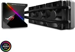 Asus All-in-one Water Cooling Unit Cpu Cooler Rog Ryujin 360 Color Oled New