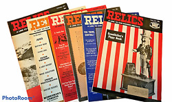 Vintage Lot Of 6 Relics Magazines 1970-1971