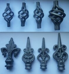 Wrought Iron Gate Components Railheads Basket Cage Sear Heads