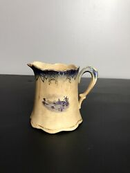Small Antique White Ironstone Small Pitcher Or Creamer