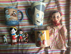 Pinocchio Collectables Lot Walt Disney Cups Mugs Figures Gepetto Rare Vintage