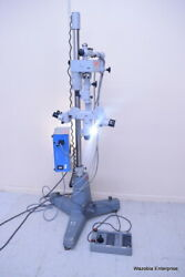 Carl Zeiss Opmi-7 Surgical Microscope Ziip No. 63509super-lux 40 Footswitch