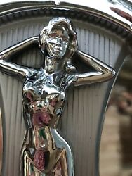 Rare Vintage Jc Whitney Pin Up Risquandeacute Rat Rod Hot Rod Set Of 4 Hubcaps 15andrdquo Ford