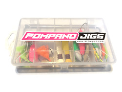 New 24 Piece Pompano Jig Box With Pompano Goofy Jigs Teasers And Rigs- Hfdepot