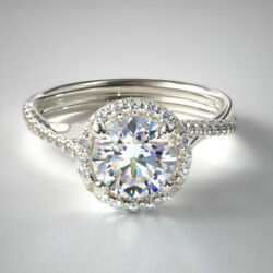 0.80 Carat Real Diamond Wedding Solitaire Ring Solid 950 Platinum Size 6 7 8 9