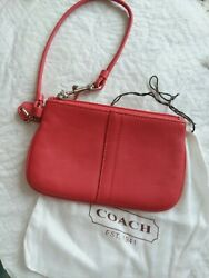 COACH quot;WRISTLETquot;...LEATHER PINK with dust bag. Never used.. $23.00