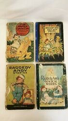 Vintage Raggedy Ann Andy Books 4 20s 30s Paper Dragon Magical Wishes Deep Woods