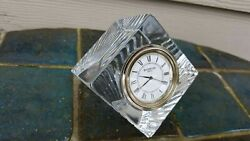 Waterford Crystal Cube Square Desk Clock Ireland