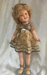 Ideal 1934 18 Shirley Temple Doll - All Original Stand Up And Cheer Rare Find