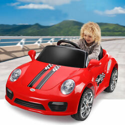 Red Electric Kids Ride On Car Toys W/ Headlights Remote Control Toy Gift Music