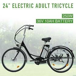 Three-wheeled Bicycle 24 250w F36v 10ah Lithium Battery W/basket