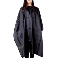 New Black Waterproof Salon Hair Cut Hairdressing Hairdresser Barber Cape Cover
