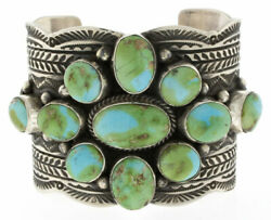 Natural Sonoran Gold Turquoise Cluster Bracelet By Navajo Artist Guy Hoskie