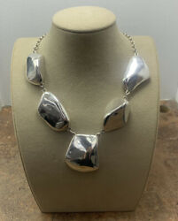 Vintage Frederic Jean Duclos On Wax Sterling Silver Necklace 111.9 Grams