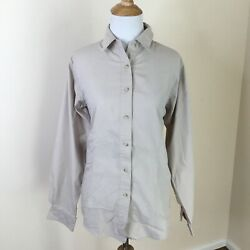 Exofficio Travel Women#x27;s Khaki Shirt Size Medium Long Sleeve Button Down M $18.99