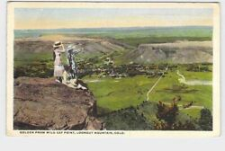 PPC POSTCARD COLORADO GOLDEN FROM WILD CAT POINT LOOKOUT MOUNTAIN BIRDS EYE VIEW
