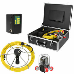 50m 9in Lcd Pipe Inspection 800tvl Video Camera Led Waterproof Drain Pipe Sewer
