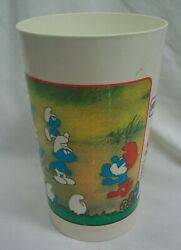 Vintage The Smurfs And The Magic Flute Movie 5 Plastic Cup 1983