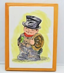 Goebel Chimney Sweep Tile Plaque On Wood Frame Ready To Hang Wall Art Home Decor