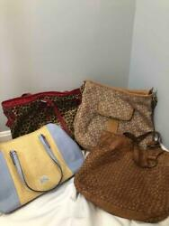 Mixed Lot of Brighton DKNY Fossil and Ralph Lauren Handbag Purse 4 Pcs Set $49.99