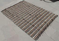 Turkish Rug 51''x74 Hand Woven Siirt Mohair Rug 130x188cm No Dyes