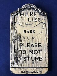 Used Rare 1970 Wdp Haunted Mansion Tombstone Plaque Please Do Not Disturb Mark