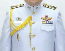 White Uniform Soldier Colonel Pants, Pins, Ranks, Wings Thai Army Military Dress