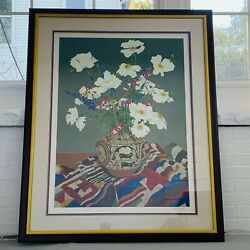 Large Original Signed Numbered John Powell Serigraph Print Still Life South West