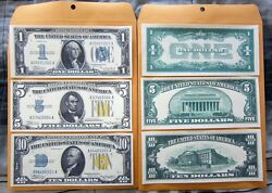 1934 1 5 10 Silver Certificate Large Copy Reprint Reproductions
