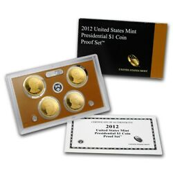 2012 U.s. Mint Presidential 1 Coin Proof Set And America The Beautiful Quarters