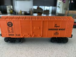 Lionel 6024 Nabisco Shredded Wheat, 1957 Only Version, Set Car, Really Nice