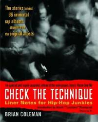 Check The Technique Liner Notes For Hip-hop Junkies - Paperback - Good