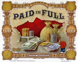 331261 Quality Paid In Full Bills Coins Gold Money Bags Luck Print Poster Us