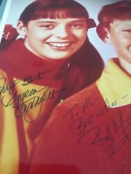 """Billy Mumy/angela Cartwright Hand Signed 8x10"""" Color Photo Vintage."""
