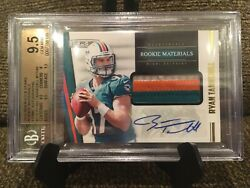 2012 Rookies And Stars Ryan Tannehill Prime 3 Color Patch Auto /49 Bgs 9.5 W/10