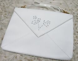nwt * newport news * hsn * white handbag clutch purse * new with tags $10.00